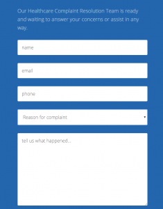 Example of a web form